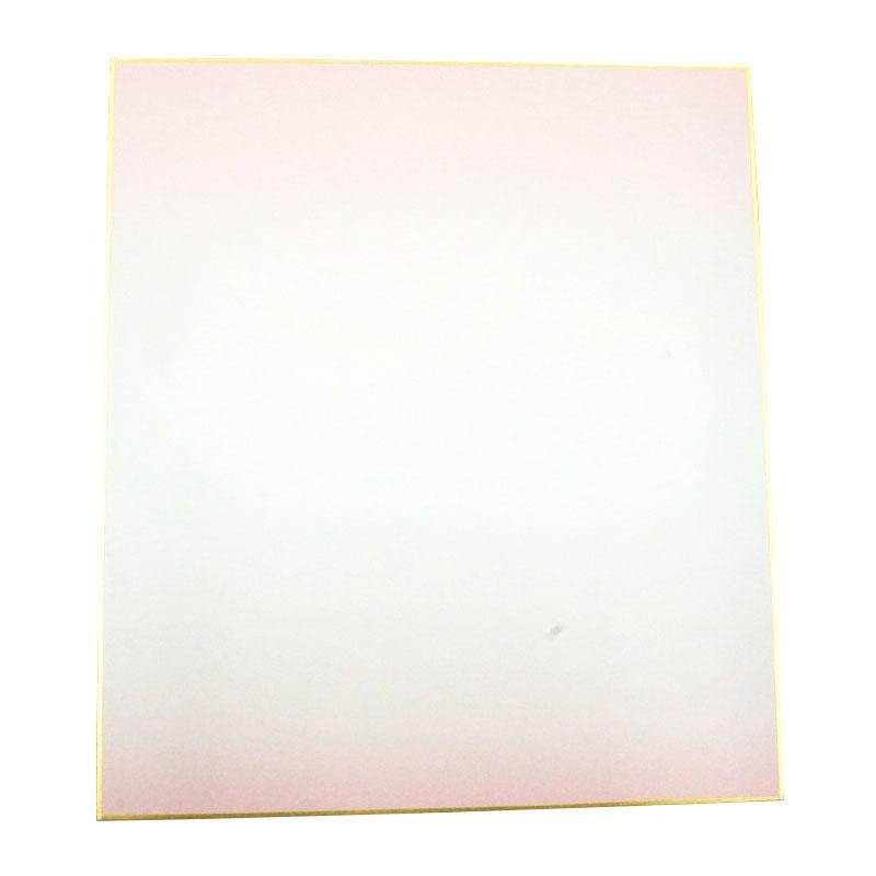 日用品 便利 ユニーク 大色紙 画仙紙天地ぼかし 桃 50枚 0031