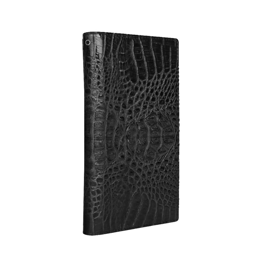 生活 雑貨 通販 HANSMARE(ハンスマレ) iPhone 11 スライド式手帳型ケース CROCO DOUBLE FLIP CASE ブラック HAN18304i61R