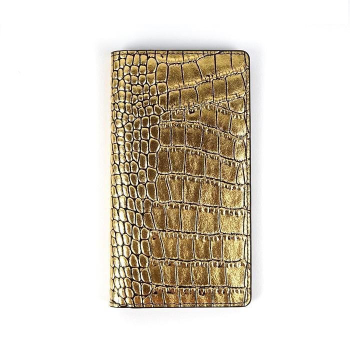 生活 雑貨 通販 iPhone 11 スライド式手帳型ケース Gold Croco Diary GZ18320i61R