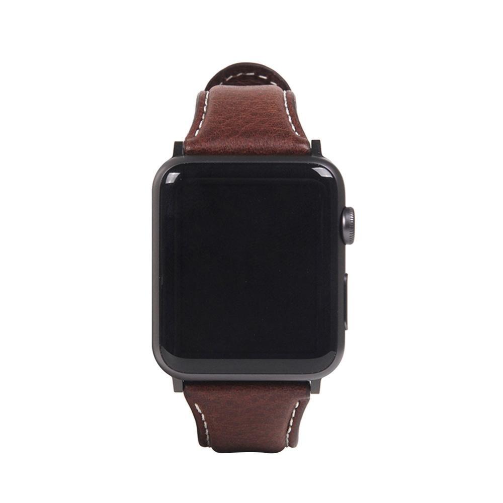 生活 雑貨 通販 Apple Watch バンド 42mm/44mm用 Italian Minerva Box Leather ブラウン SD18391AW