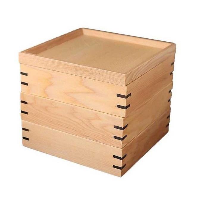 宴三段重箱 ナチュラル小 耐久加工 JH001Wお得 な 送料無料 人気 トレンド 雑貨 おしゃれ