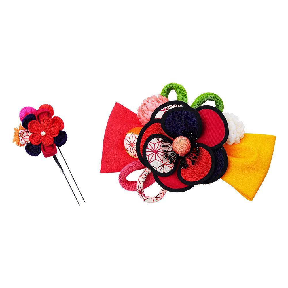 生活 雑貨 通販 レトロポップな和風髪飾り (コーム・Uピン) 224-022 アカ