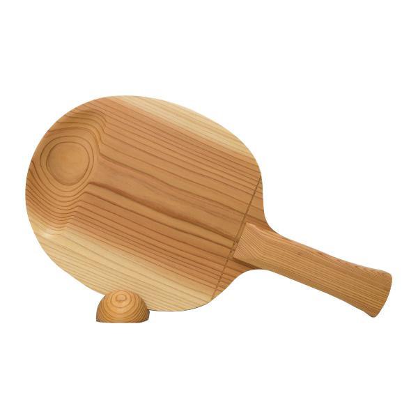 生活 雑貨 通販 ビッグウエディングスプーン 卓球ラケット型スプーン 木目 飾り台付