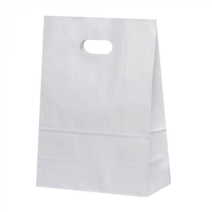 トレンド 雑貨 おしゃれ 紙袋 イーグリップ L 白無地 50枚×10包 XZT52013
