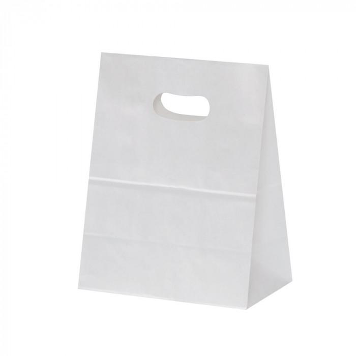 トレンド 雑貨 おしゃれ 紙袋 イーグリップ M 白無地 50枚×10包 XZT52001