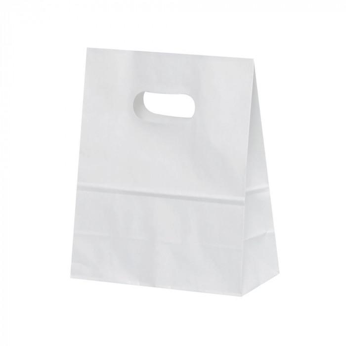日用品 便利 ユニーク パックタケヤマ 紙袋 イーグリップ S 白無地 50枚×10包 XZT52014