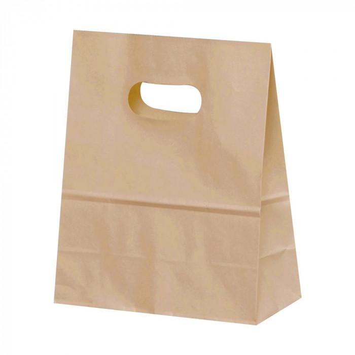 トレンド 雑貨 おしゃれ 紙袋 イーグリップ S 茶無地 50枚×10包 XZT52023