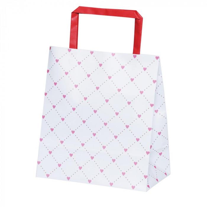 流行 生活 雑貨 平紐手提袋 H平181ハートキルティングレッド 50枚×4包 XZT69918