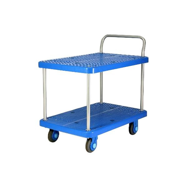 静音台車 テーブル2段式 最大積載量300kg PLA300-T2お得 な全国一律 送料無料 日用品 便利 ユニーク