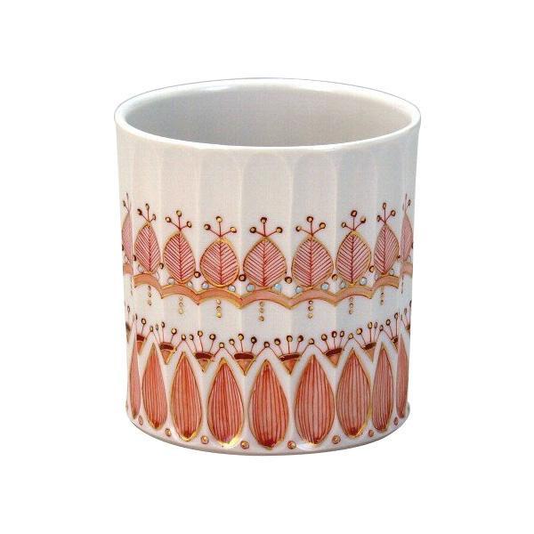 聡文作 ロックカップ(白九) 赤絵ゴーランド N125-07人気 お得な送料無料 おすすめ 流行 生活 雑貨