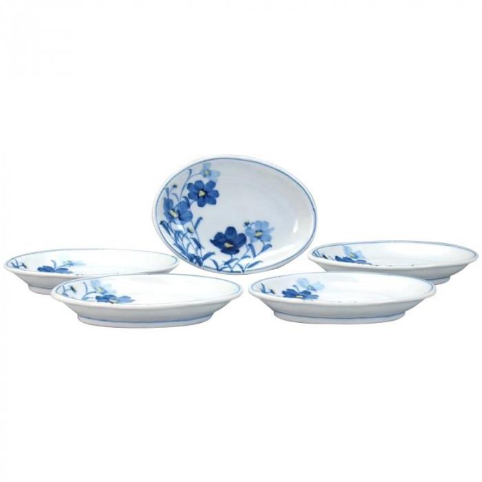 5号楕円皿揃 お花畑 N157-16人気 お得な送料無料 おすすめ 流行 生活 雑貨