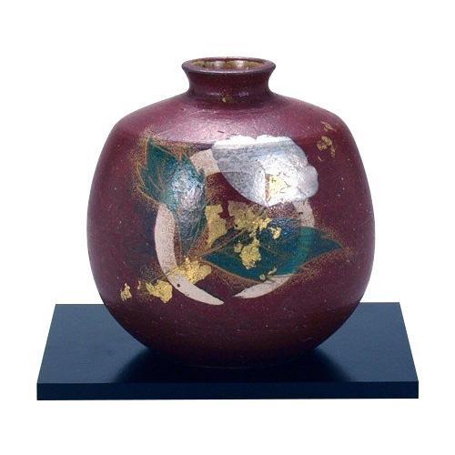 5号花瓶 金銀彩山茶花 N166-09人気 お得な送料無料 おすすめ 流行 生活 雑貨