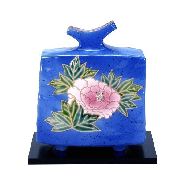 人気カラーの 6号花瓶 青釉牡丹 N166-11おすすめ 送料無料 誕生日 便利雑貨 日用品, unstitch 65f6b56a