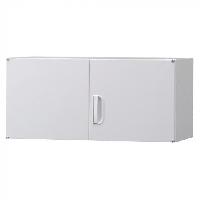 日用品 便利 ユニーク 豊國工業 壁面収納庫深型上置き棚H420 ホワイト HOS-U3 BN-90色(ホワイト)