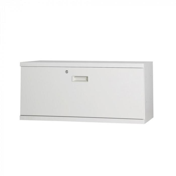 流行 生活 雑貨 コンビネーション収納庫ラテラル1段 H410 ホワイト NHS-L11-W サテンホワイト