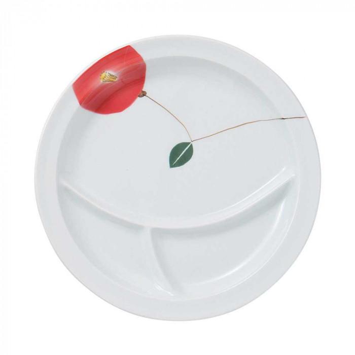浜陶 波佐見焼 吹き花 仕切り皿 R (3枚入) 17-04人気 お得な送料無料 おすすめ 流行 生活 雑貨