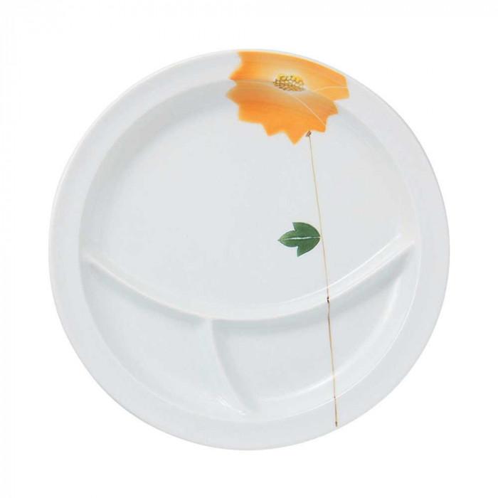 浜陶 波佐見焼 吹き花 仕切り皿 Y (3枚入) 17-05人気 お得な送料無料 おすすめ 流行 生活 雑貨