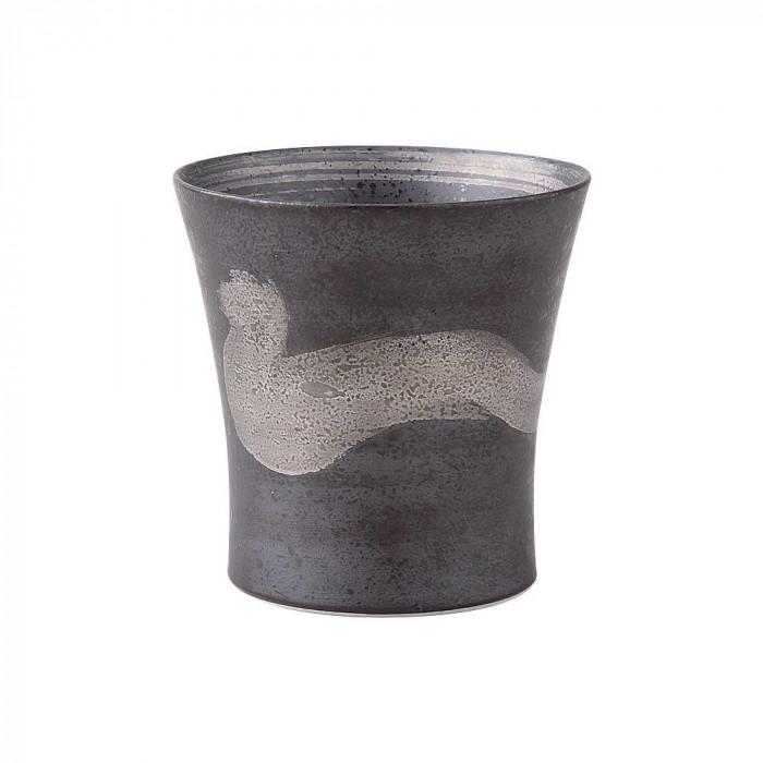浜陶 波佐見焼 焼酎カップ 銀刷毛(スリム) ミニワビカップ (5個入) 47-12人気 お得な送料無料 おすすめ 流行 生活 雑貨