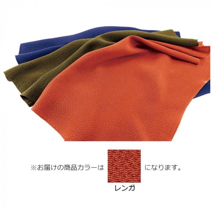 正絹ちりめん無地ふろしき 二四巾 レンガ 49-011203