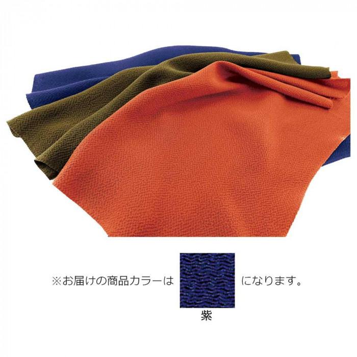 日用品 便利 ユニーク 正絹ちりめん無地ふろしき 二巾9号 紫 49-010211