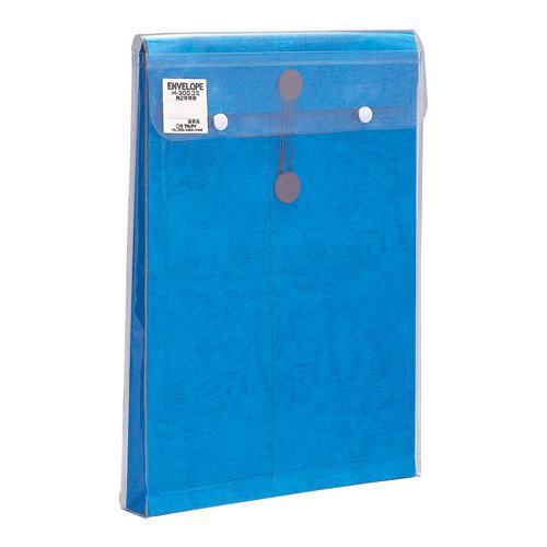 生活 雑貨 通販 ビニール付保存袋 角2対応 ブルー 20セット H-300B