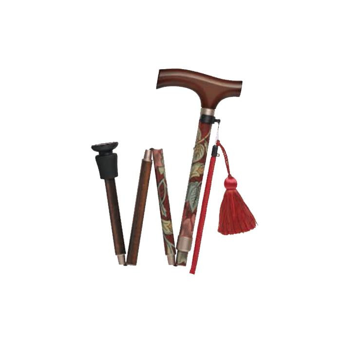流行 生活 雑貨 ウィリアム・モリス・ステッキ折畳 ハニーサックル&チューリップ WB5108