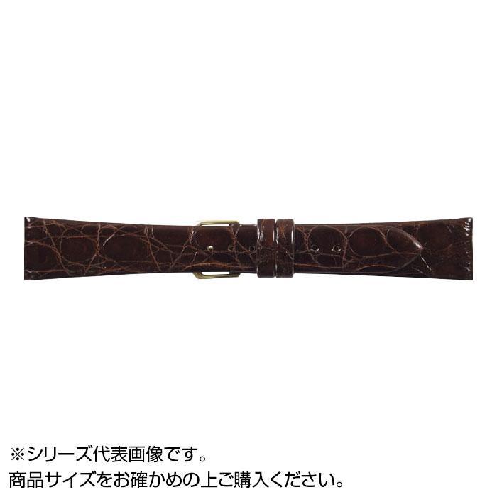 流行 生活 雑貨 時計バンド 腹ワニD 16cm ダークブラウン (美錠:金) WD-B16