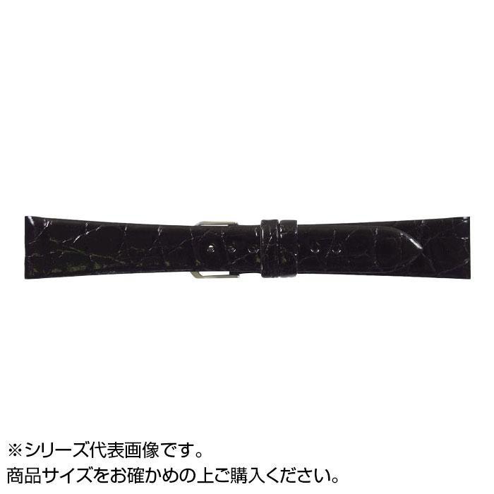 流行 生活 雑貨 時計バンド 腹ワニD 17cm ブラック (美錠:銀) WD-A17