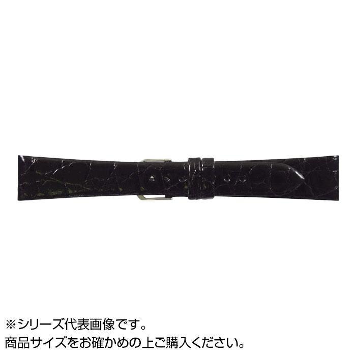 流行 生活 雑貨 時計バンド 腹ワニD 18cm ブラック (美錠:銀) WD-A18