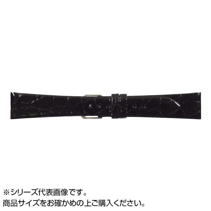 流行 生活 雑貨 時計バンド 腹ワニD 19cm ブラック (美錠:銀) WD-A19