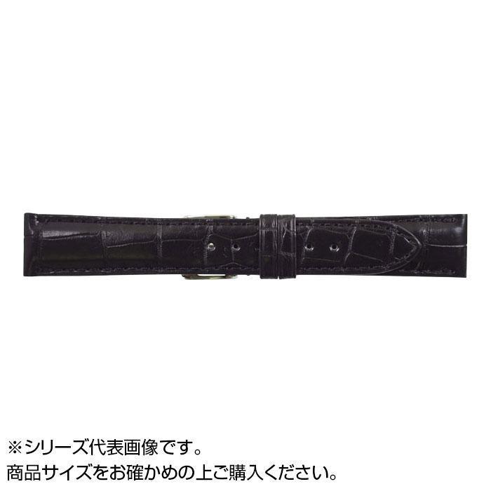 流行 生活 雑貨 時計バンド クロコマット 19cm ブラック (美錠:銀) WRM-A19