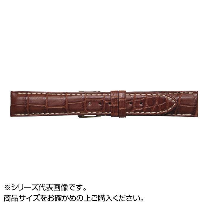 流行 生活 雑貨 時計バンド クロコマット 20cm マロンブラウン/ホワイト (美錠:銀) WRM-MW20