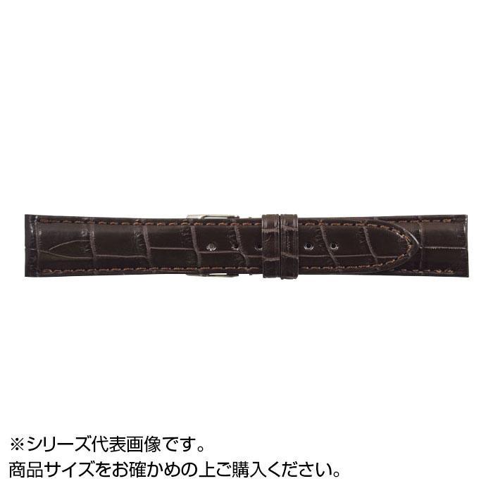 流行 生活 雑貨 時計バンド クロコマット 22cm ブラウン (美錠:銀) WRM-B22