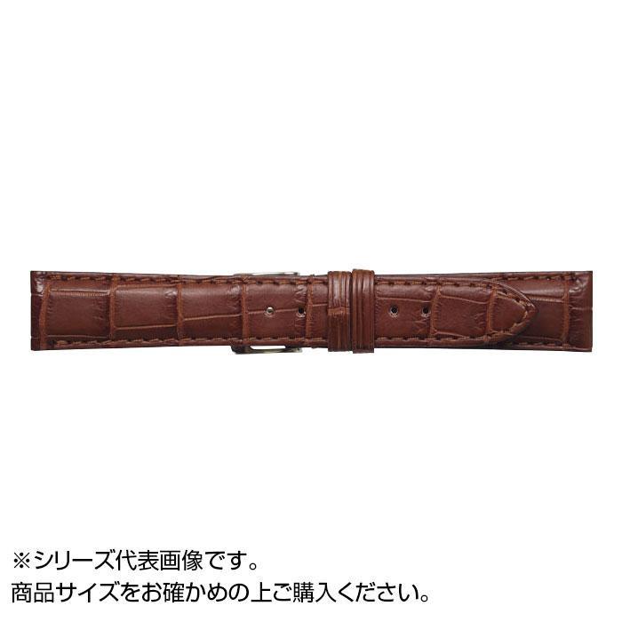 流行 生活 雑貨 時計バンド クロコマット 22cm マロンブラウン (美錠:銀) WRM-M22
