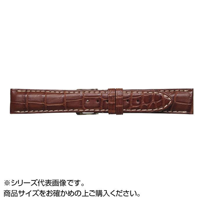 流行 生活 雑貨 時計バンド クロコマット 22cm マロンブラウン/ホワイト (美錠:銀) WRM-MW22