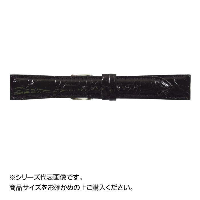 流行 生活 雑貨 時計バンド DM腹ワニ 17cm ブラック (美錠:銀) WDM-A17