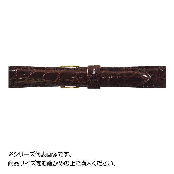 流行 生活 雑貨 時計バンド DM腹ワニ 17cm ダークブラウン (美錠:金) WDM-B17