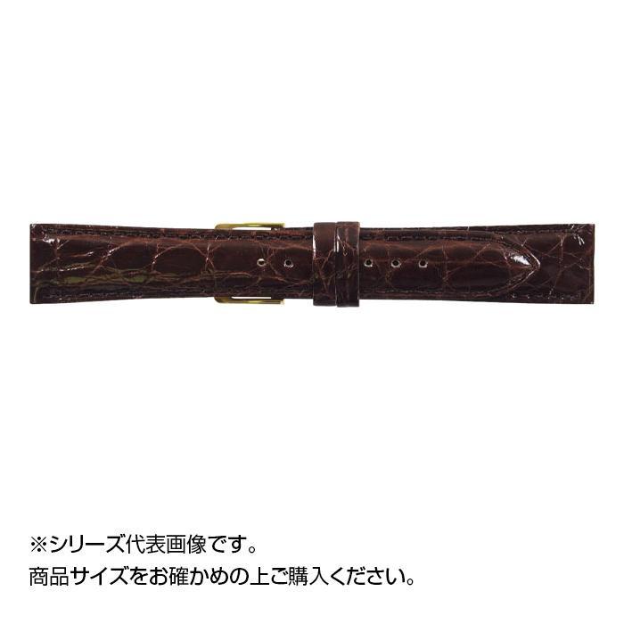 流行 生活 雑貨 時計バンド DM腹ワニ 20cm ダークブラウン (美錠:金) WDM-B20