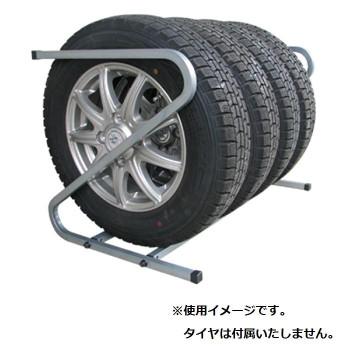 【単三電池 3本】おまけ付き転がすだけで簡単収納♪軽自動車タイヤ用タイヤラック スポーツ・アウトドア関連 転がすだけで簡単収納♪軽自動車タイヤ用タイヤラック