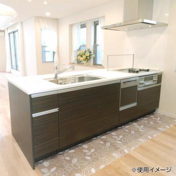 透明キッチンマット ロール プリントタイプ フラワー 45cm×20m W PKMR-4520お得 な全国一律 送料無料 日用品 便利 ユニーク