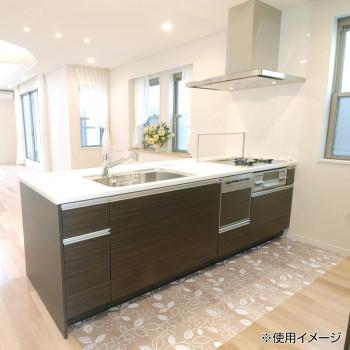 透明キッチンマット ロール プリントタイプ フラワー 90cm×20m W PKMR-9020人気 お得な送料無料 おすすめ 流行 生活 雑貨