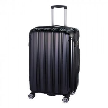 24インチ キャリーケース 約74~86L S19-D-703 ブラックお得 な 送料無料 人気 トレンド 雑貨 おしゃれ