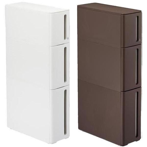 収納家具 プラスチックすきま収納ラック ドロアーB W170×D450×H850mm ホワイト・DB-0111WHオススメ 送料無料 生活 雑貨 通販