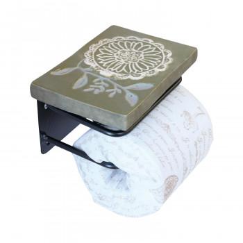 彩か(SAIKA) 棚台付きフルール(Green) Paper holder トイレットペーパーホルダー PTAT-01g  人気 お得な送料無料 おすすめ 流行 生活 雑貨