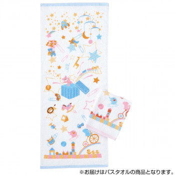 【単三電池 6本】おまけ付き毎日を楽しく彩るかわいい柄! 金本徳 おもちゃ箱 バスタオル 綿100% Blue(ブルー)&Pink(ピンク) 12枚セット(2色×6枚) No.12-0504
