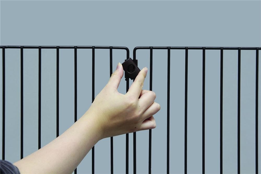 柵 さく フェンス 簡単設置 ペットフェンス カラー:ブラウン