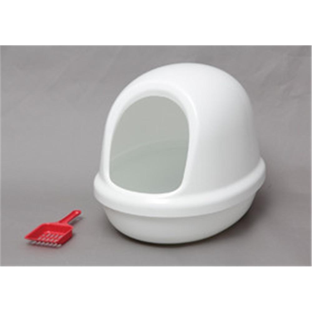 トイレ用品 猫用トイレ フルカバータイプ ネコのトイレ フルカバー カラー:しろ