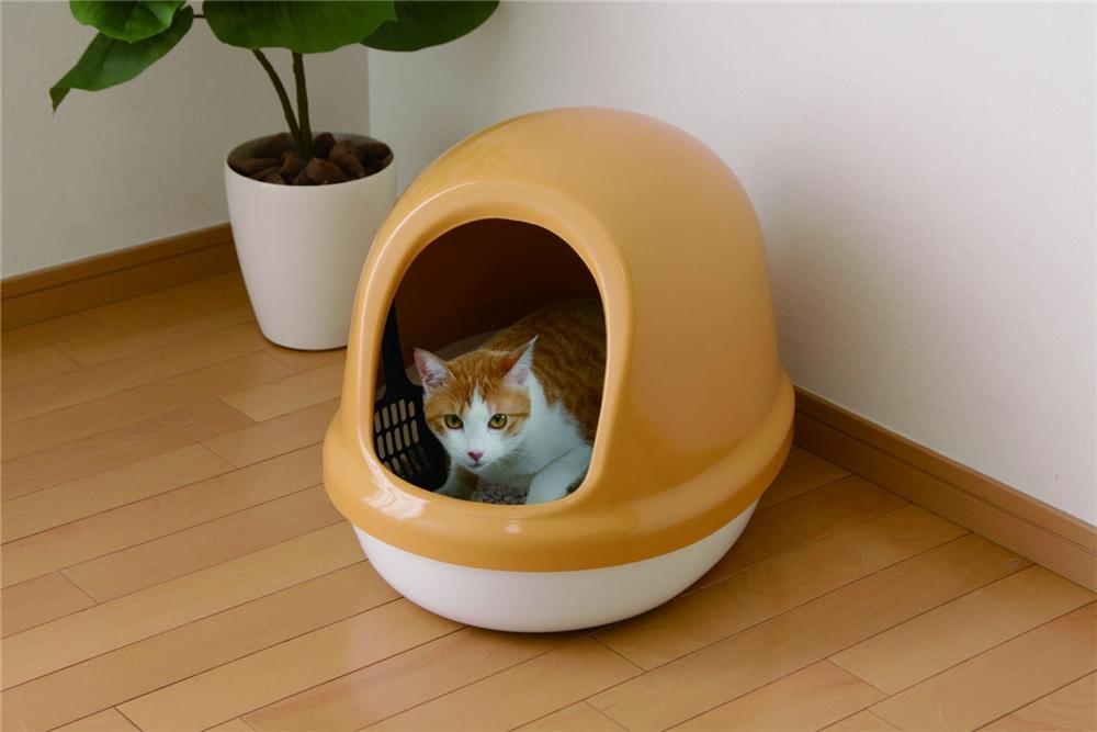 Toilet 猫トイレ ペット用品 ネコのトイレ フルカバー カラー:三毛