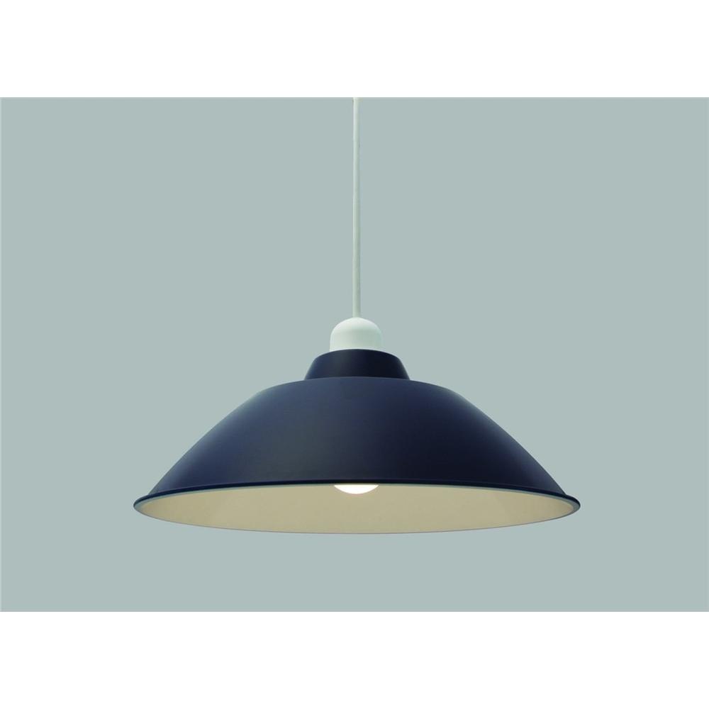 LED照明 屋内照明 シェード/器具/LED電球 ホーロー調プラシェード Mサイズ ネイビー