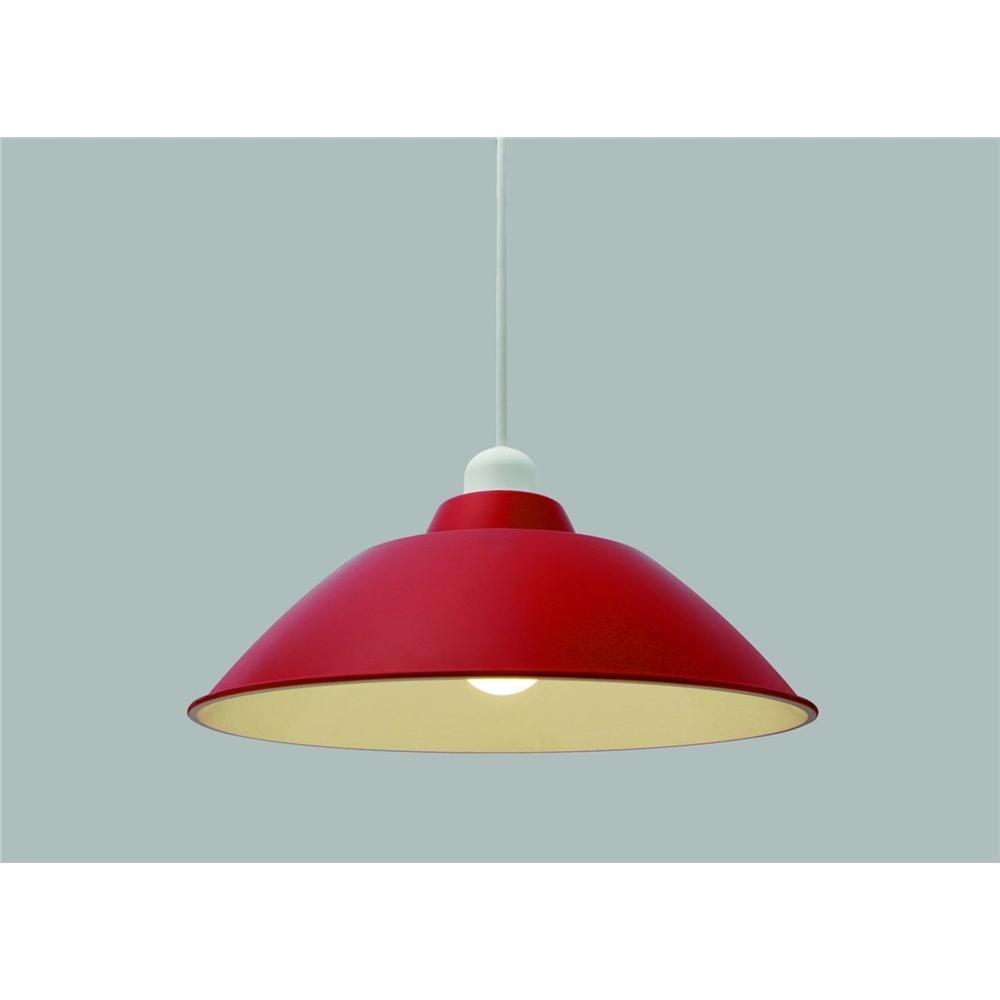 照明 ペンダント 天井照明 マットな欧米スタイルカラー ホーロー調プラシェード Mサイズ レッド